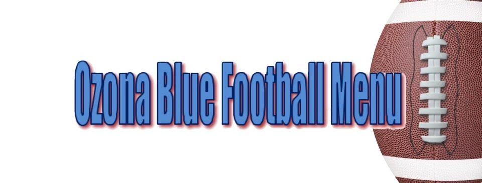 ozona blue football menu